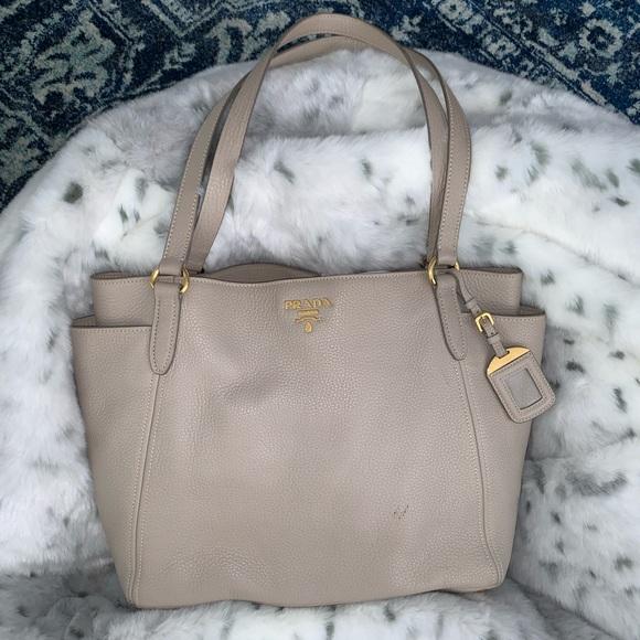 39eac942fb2d Prada Bags | Vitello Daino Leather Tote Bag Pomice Br4970 | Poshmark